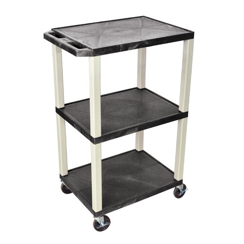 H. Wilson Company Tuffy Open Shelf AV Cart with Legs
