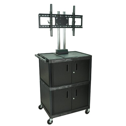 H. Wilson Company Tuffy Mobile Flat Panel Cart with Cabinet