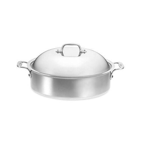 Stainless Steel 6-qt. Aluminum Round Braiser with Lid