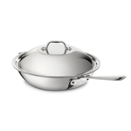 "All-Clad Master Chef 2 12"" Chef's Pan with Lid"