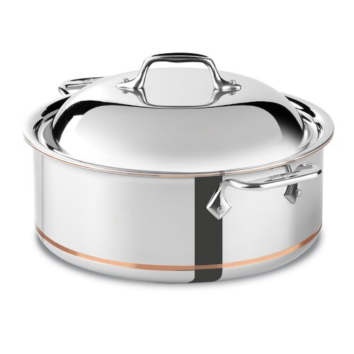 Copper Core 6-qt. Round Roaster Braiser