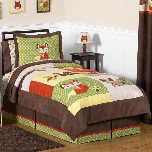 Sweet Jojo Designs Forest Friends Collection 3 Piece Comforter Set