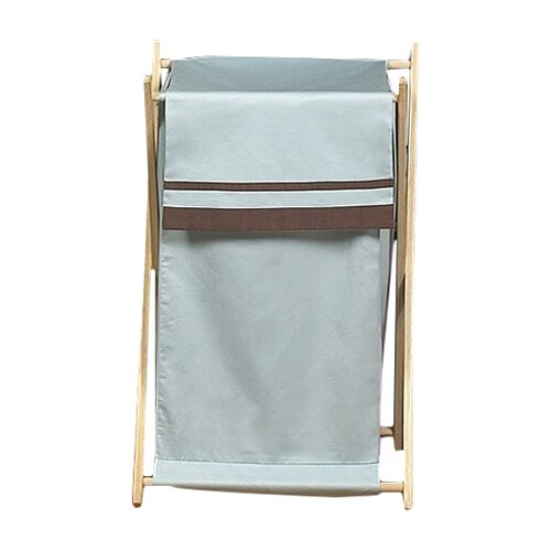 Sweet Jojo Designs Hotel Blue and Brown Laundry Hamper