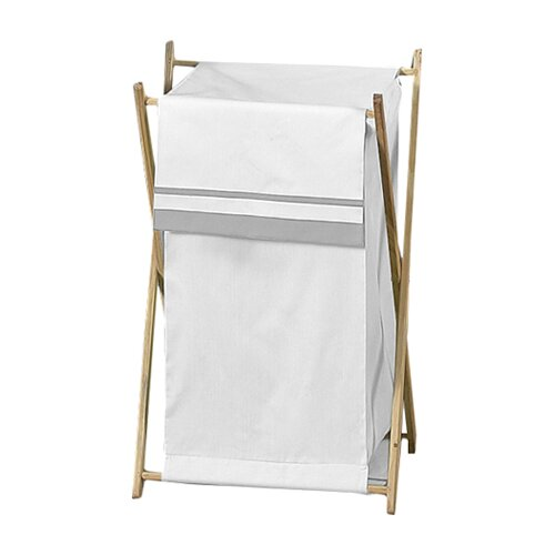 Sweet Jojo Designs Hotel White and Gray Laundry Hamper
