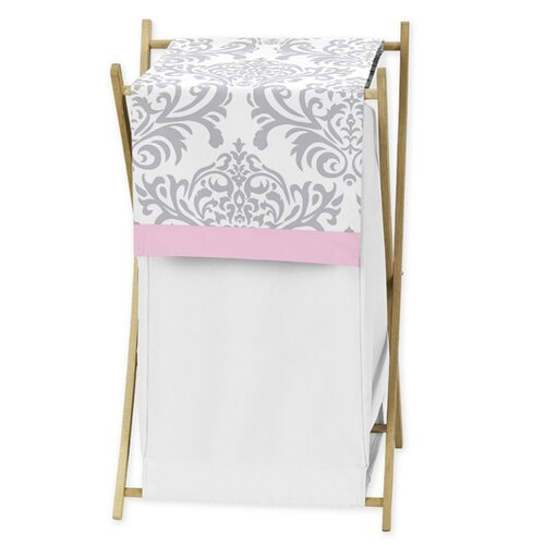 Sweet Jojo Designs Pink and Gray Elizabeth Laundry Hamper
