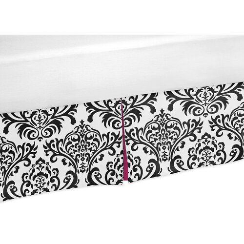 Sweet Jojo Designs Isabella Hot Pink, Black and White Queen Bed Skirt