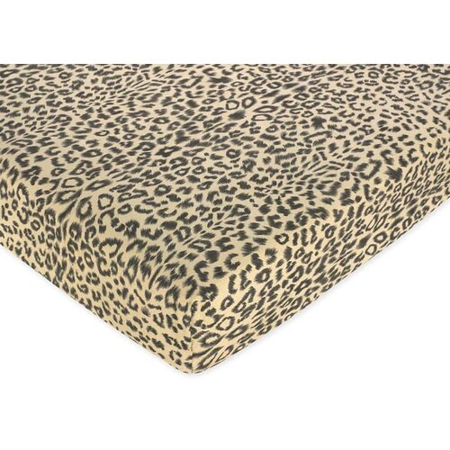 Animal Safari Fitted Crib Sheet
