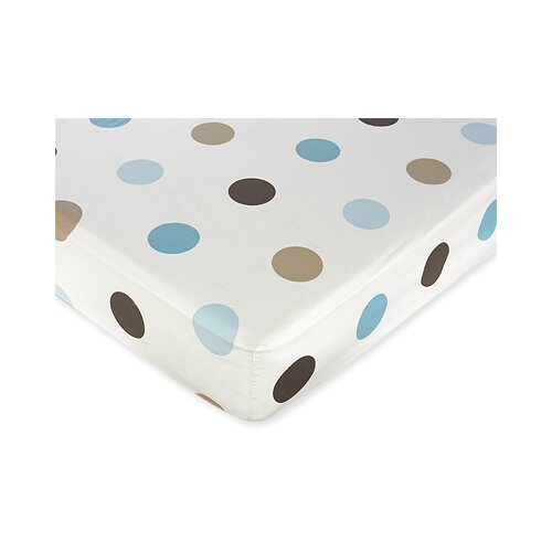 Sweet Jojo Designs Mod Dots Large Dot Fitted Crib Sheet