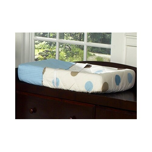 Sweet Jojo Designs Mod Dots Blue Collection Changing Pad Cover