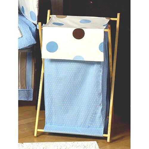 Sweet Jojo Designs Mod Dots Blue Laundry Hamper