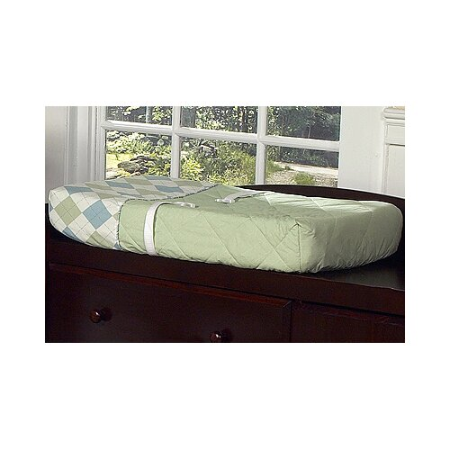 Sweet Jojo Designs Argyle Green Blue Collection Changing Pad Cover
