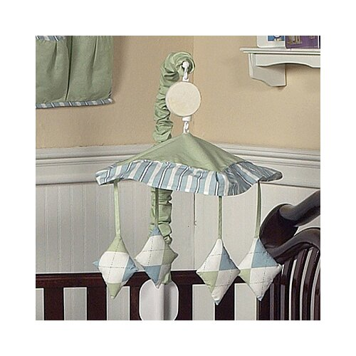 Sweet Jojo Designs Argyle Green Blue Musical Mobile