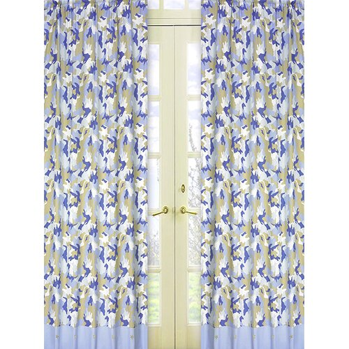 Sweet Jojo Designs Camo Cotton Curtain Panel