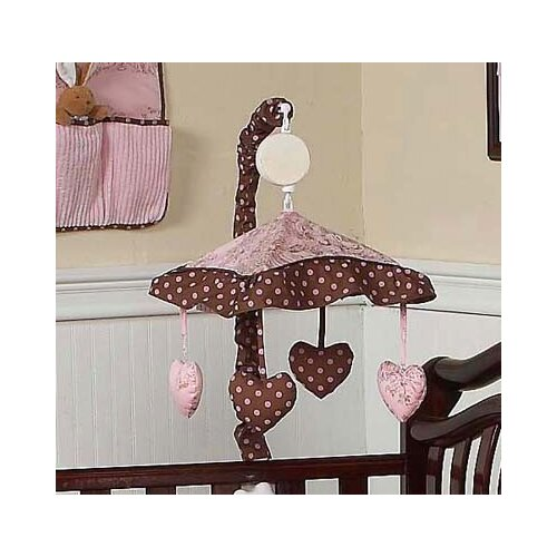 Sweet Jojo Designs Pink and Brown Toile Musical Mobile