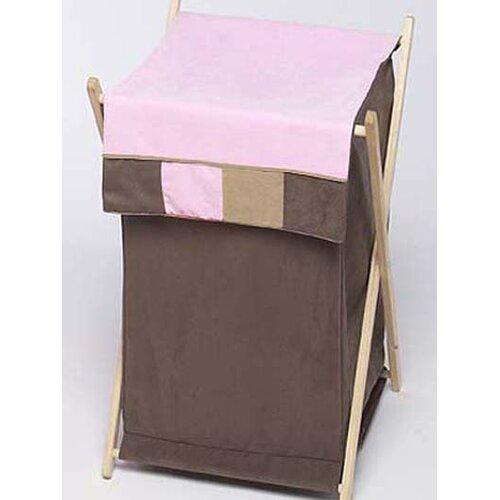 Sweet Jojo Designs Soho Pink and Brown Laundry Hamper