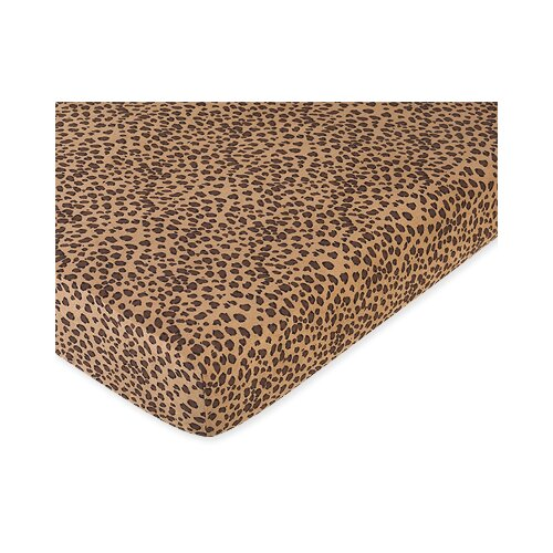 Sweet Jojo Designs Cheetah Fitted Crib Sheet