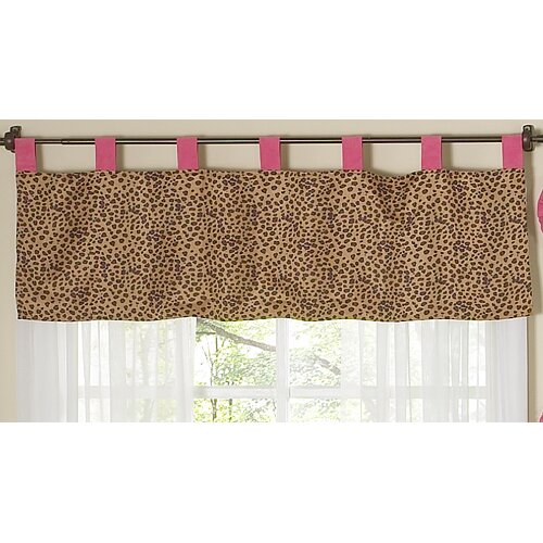"Sweet Jojo Designs Cheetah Pink 84"" Curtain Valance"