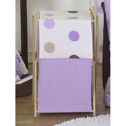 Mod Dots Purple Laundry Hamper