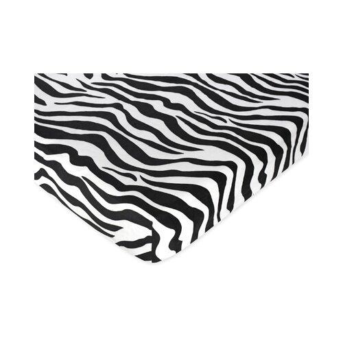 Sweet Jojo Designs Zebra Fitted Crib Sheet