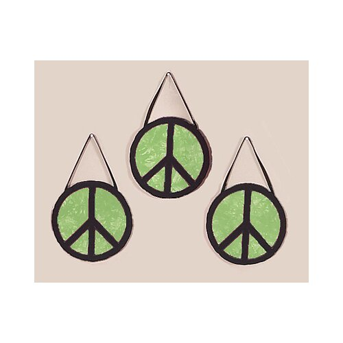 Sweet Jojo Designs Peace Green Collection Hanging Art