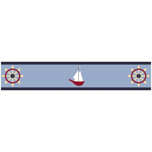 Sweet Jojo Designs Come Sail Away Wallpaper Border