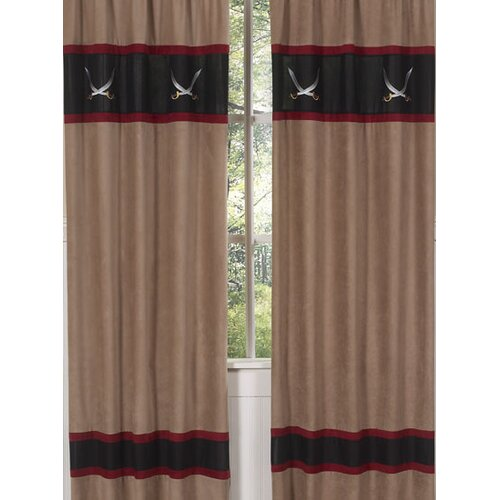 Sweet Jojo Designs Pirate Treasure Cove Curtain Panel
