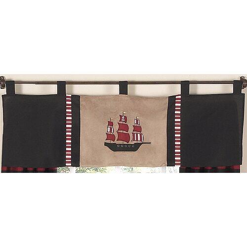 "Sweet Jojo Designs Pirate Treasure Cove 54"" Curtain Valance"
