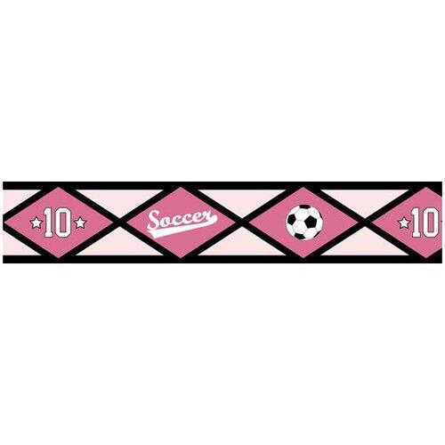 Sweet Jojo Designs Soccer Pink Wallpaper Border