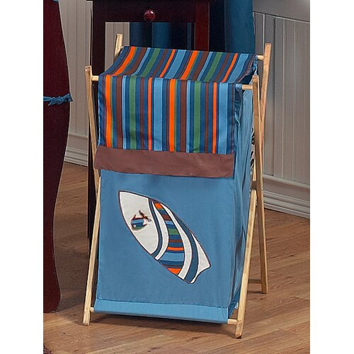 Sweet Jojo Designs Surf Blue Laundry Hamper