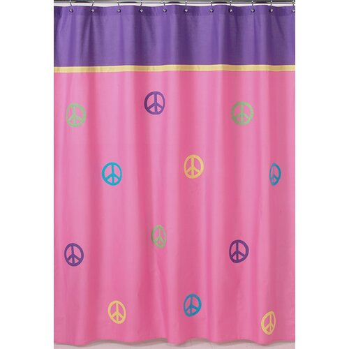 Sweet Jojo Designs Groovy Cotton Shower Curtain