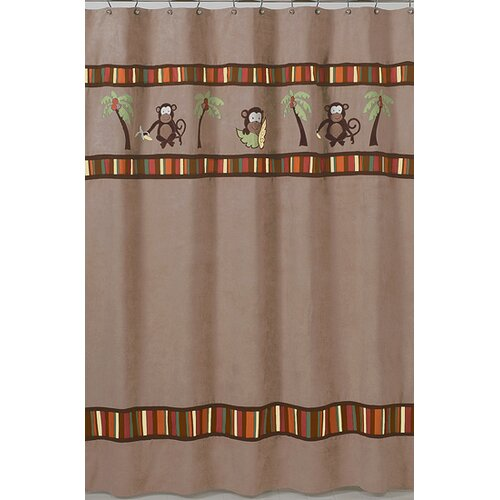Sweet Jojo Designs Monkey Shower Curtain