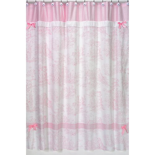 Sweet Jojo Designs Toile Cotton Shower Curtain
