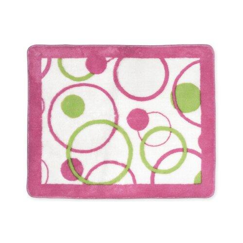 Sweet Jojo Designs Circles Pink Collection Floor Rug