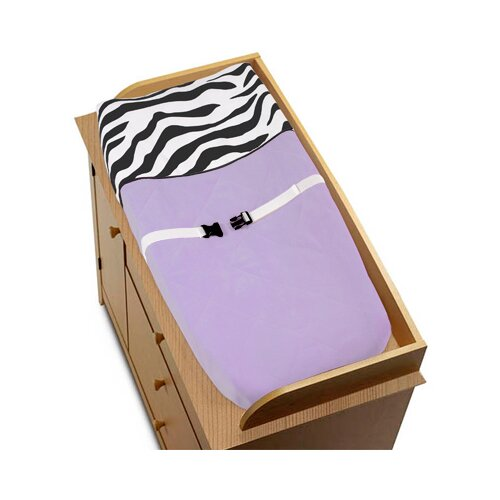 Sweet Jojo Designs Zebra Purple Collection Changing Pad Cover