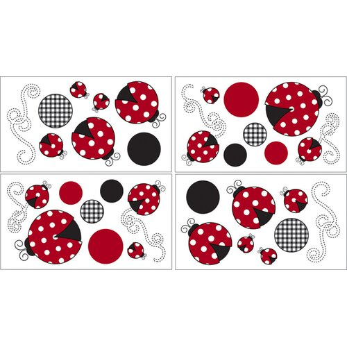 Sweet Jojo Designs Little Ladybug Wall Decal 4 piece set