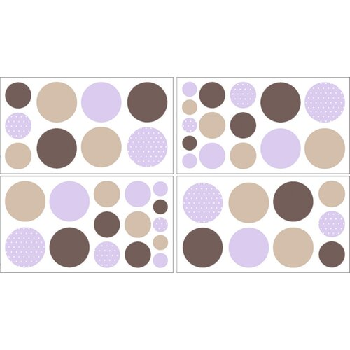 Sweet Jojo Designs Mod Dots Wall Decal 4 piece set