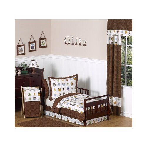 Sweet Jojo Designs Night Owl 5 Piece Toddler Bedding Set
