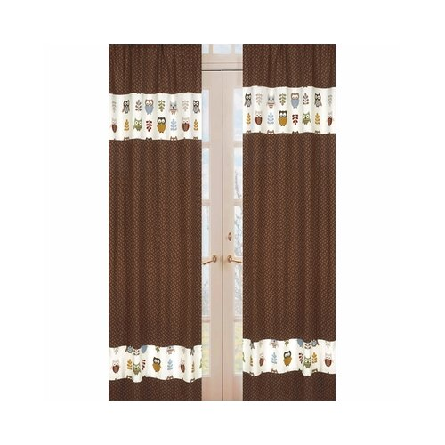 Sweet Jojo Designs Night Owl Rod Pocket Curtain Panel