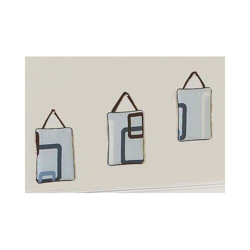Sweet Jojo Designs 3 Piece Geo Blue Hanging Art Set