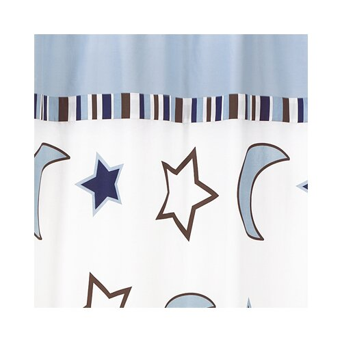 Sweet Jojo Designs Starry Night Collection Shower Pleated Curtain Single Panel