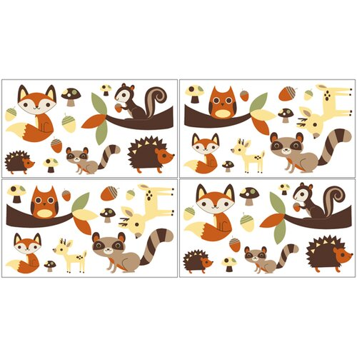 Sweet Jojo Designs Forest Friends Wall Decal 4 piece set