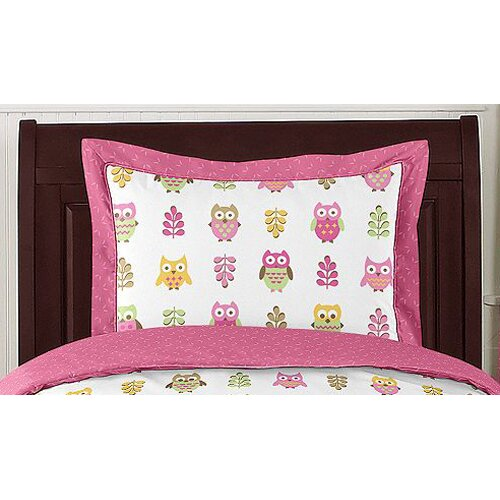 Sweet Jojo Designs Happy Owl 4 Piece Twin Bedding Set