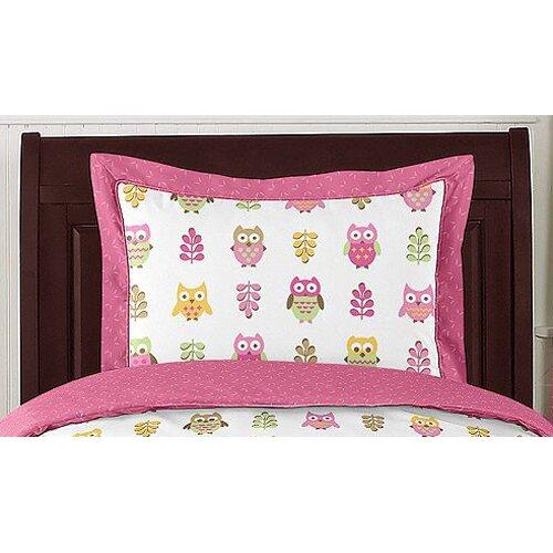 Sweet Jojo Designs Happy Owl 4 Piece Twin Bedding Set