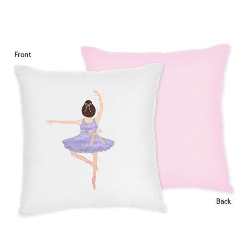 Sweet Jojo Designs Ballerina Decorative Pillow