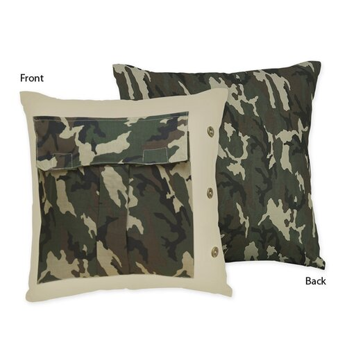 Sweet Jojo Designs Camo Decorative Pillow