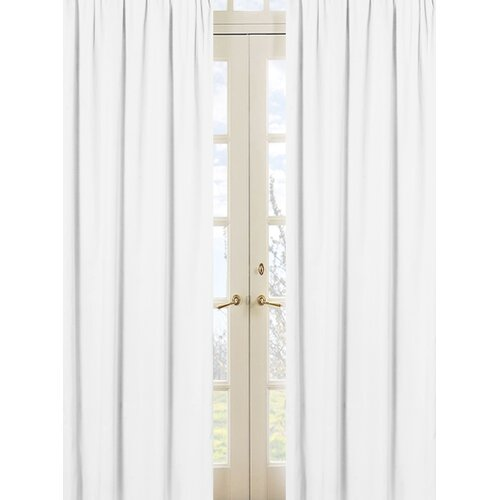 Sweet Jojo Designs Minky Dot White Rod Pocket Curtain Panel