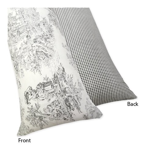 Sweet Jojo Designs French Toile Body Pillowcase