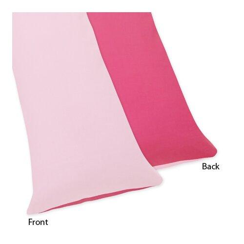 Sweet Jojo Designs Flower Pink and Green Body Pillowcase