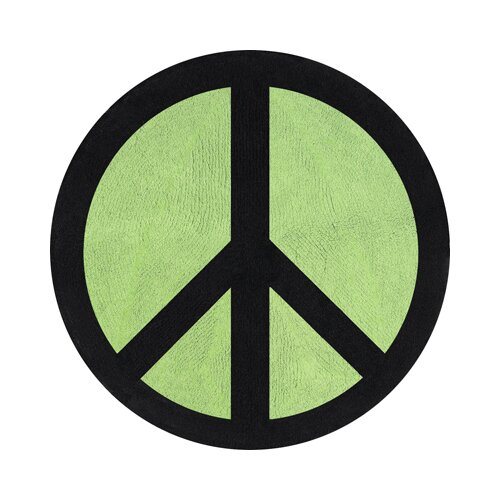 Sweet Jojo Designs Peace Green Collection Floor Rug