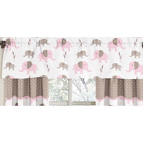"Sweet Jojo Designs Elephant 54"" Curtain Valance"